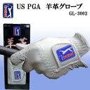 在庫処分 天然皮革使用 US PGA TOUR PGAツアー 羊革ゴルフグローブ シープグローブ GL-3002 GL3002