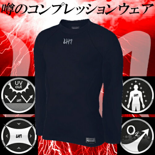 身体能力向上 締め付けすぎない SHANI シャニ 長そで 長袖 モックネック アンダーウェア インナーウェア コンプレッションウェア BM-70n