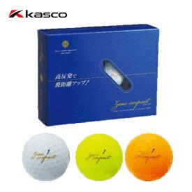 送料無料 キャスコ KASCO ゼウスインパクト2 ゴルフボール Zeusimpact2