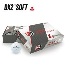 値下げ処分 ウィルソン Wilson Staff DX2 SOFT ツーピースボール 12球入り