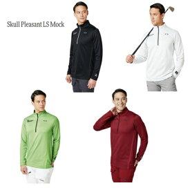 最終処分 オークリー ゴルフ OAKLEY GOLF 長袖モックシャツ SKULL PLEASANT LS MOCK 434485JP