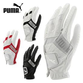 PUMA GOLF プーマゴルフ 867773ソフトな合成皮革と広範囲の伸縮性ニットが手にフィット3Dリブート ゴルフグローブ 左手用