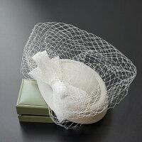 カクテル帽トーク帽ベール付きトークハットフォーマルウェディングヘッドドレス髪飾りオフホワイト冠婚葬祭ミニハットトークハット