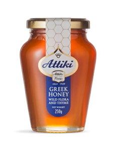 ギリシャ産 天然ハチミツ Attiki アッティキ タイムの花 純度100% ビン入り500g おいしい蜂蜜(はちみつ) 商品番号:36096