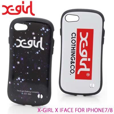 X-girl エックスガール スマホケース iPhoneケース アイフェイス【X-GIRL X IFACE FOR IPHONE7/8】 05181078