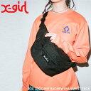 X-girl エックスガール ボディバッグ レディース ウエストポーチ BOX LOGO HIP BAG ヒップバッグ 05191010
