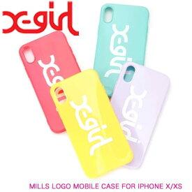 X-girl エックスガール スマホケース iPhoneケース アイフェイス【MILLS LOGO MOBILE CASE FOR IPHONE X/XS】05191080