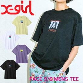 X-girl エックスガール Tシャツ FACE S/S MENS TEE レディース 半袖 ワンサイズ 05191124