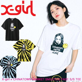 X-girl エックスガール 【X-girl × CHINATOWN MARKET SMILEY(R) FACE S/S TEE】 レディース 半袖 Tシャツ チャイナタウンマーケット 105211011013