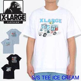 XLARGE エクストララージ Tシャツ 半袖【S/S TEE ICE CREAM】X-LARGE メンズ 01191155