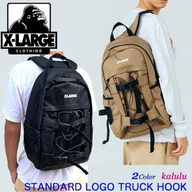 XLARGE エクストララージ バックパック リュック【STANDARD LOGO TRUCK HOOK BACKPACK】リュックサック メンズ 通勤 通学 大容量 01193018
