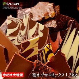 訳あり 割れチョコミックス1kg→1.2kgに大増量! 12種  東京 自由が丘 チュべ・ド・ショコラ クーベルチュール 割れチョコ 山盛り メガ盛り お徳用サイズ チョコレート