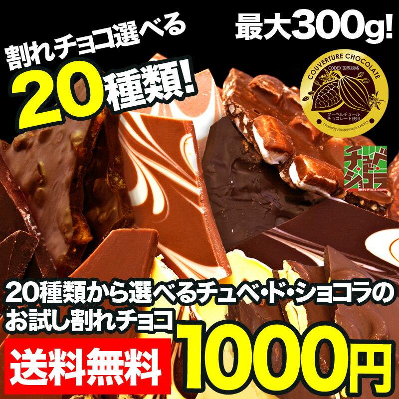 【お試し割れチョコ1000円ポッキリ】チュベ・ド・ショコラの割れチョコを20種類から選べる/ラッピング・ギフトバッグ不可/訳あり【メール便】