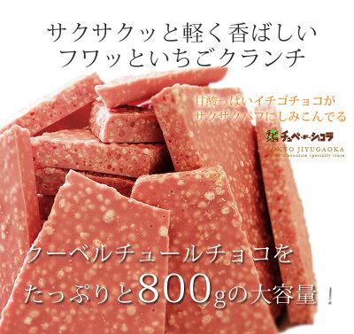 チュべ・ド・ショコラの割れチョコイチゴクランチ800g