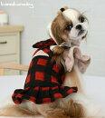 【ドッグウェア】【犬の服】【犬服】フリルスリーブワンピース