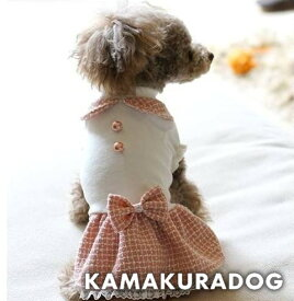【鎌倉dog】【犬の服】リボンツイードワンピース