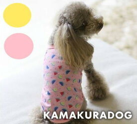 【ドッグウェア】【犬の服】スイカ柄キャミ