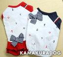 ◆メール便送料無料◆【ドッグウェア】【犬 服】ネイビーリボンマリンシャツ