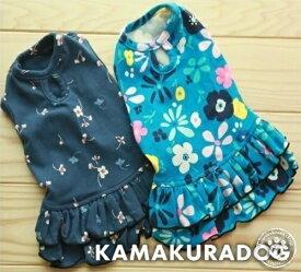 【ドッグウェア】【犬服】花柄ワンピース