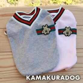 【鎌倉DOG】【犬の服】【ドッグウェア】Vネックレッドライン