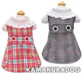 【ドッグウェア】【犬 服】チェックワンピ