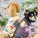 【犬の服】ドッグ&ザウルスつなぎ