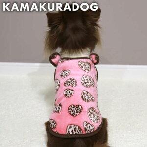 【犬の服】ヒョウ柄ハートウェア