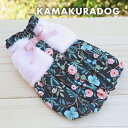 【犬の服】ピンクファー付きワンピース