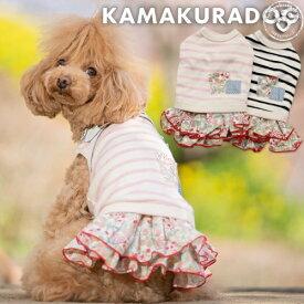 【犬の服】カジュアルフラワーワンピ