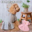 【犬の服】襟キュートワンピース