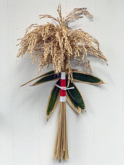 【稲赤帯】たわわに実る稲穂をざっくりと巻き上げ、白と赤の和紙で包んだシンプルで力強い逸品