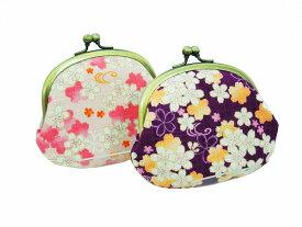 がま口 財布 3.3寸【桜ドビー】和柄 花柄 てづくり 鎌倉てづくり屋