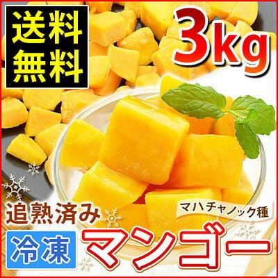 冷凍マンゴー(500g×6)計3kg【送料無料・業務用】/カット済み完熟マンゴー
