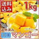 冷凍マンゴー(500g×2)計1kg【送料込み・業務用】/カット済み完熟マンゴー