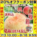 【クーポン使用で20%オフ】福島の桃「あかつき」(特秀品・1.8kg・7玉入)×2箱セット※店側でクーポンの後付けは出来ませんので、ご…