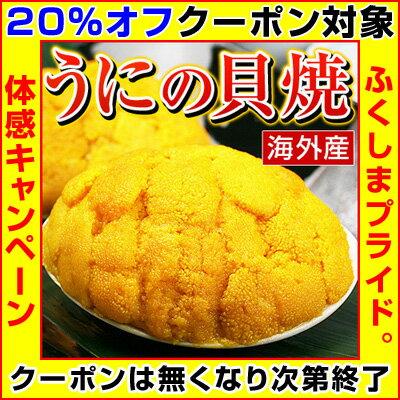 【クーポン使用で20%オフ】 むらさきうに うに 貝焼き 【 海外産 ウニの貝焼き 】 焼き ウニ 貝焼 貝殻を含まず約50g 1ヶ