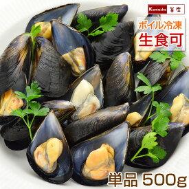 ムール貝 広島県産 国産 1パック 500g(15〜25粒) 単品販売