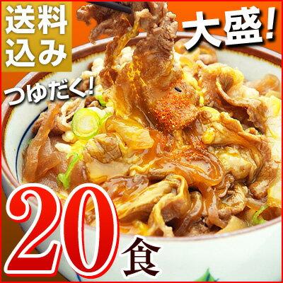 日東ベストの牛丼DX【185g×20パック】