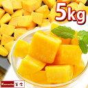 冷凍 マンゴー 【 カット済み 完熟マンゴー 500g ×10袋 計 5kg 】 フルーツ フローズンマンゴー マンゴーチャンク カ…