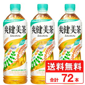 爽健美茶 600ml ペットボトル 【 3ケース × 24本 合計 72本 】 送料無料 コカコーラ社直送 cola