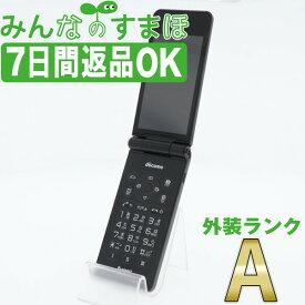【中古】 P-01J P-smart ケータイ ブラック 【SIMフリー】 本体 ドコモ Aランク ガラケー 【あす楽】 【保証あり】 【送料無料】 p01jbk8mtm