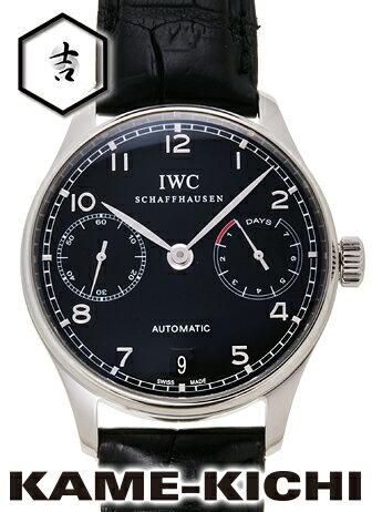 【中古】IWC ポルトギーゼ 7デイズパワーリザーブ Ref.IW500109 ブラック (IWC Portuguese 7Day's Power Reserve)【楽ギフ_包装】