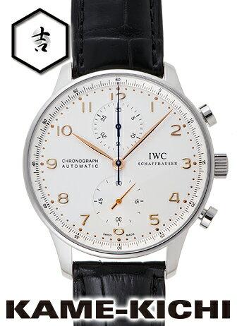【中古】IWC ポルトギーゼ クロノグラフ Ref.IW371445 ホワイト (IWC Portuguese Chronograph)【楽ギフ_包装】