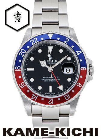 【中古】ロレックス 3年保証 GMTマスターII Ref.16710 ブラック (ROLEX GMT MasterII)【楽ギフ_包装】