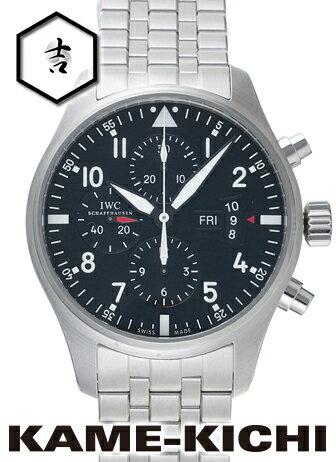 【中古】IWC パイロットウォッチ クロノグラフ Ref.IW377704 ブラック (IWC Pilot's Watch Chronograph)【楽ギフ_包装】