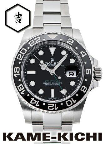 【中古】ロレックス 3年保証 GMTマスターII Ref.116710LN ブラック (ROLEX GMT MasterII)【楽ギフ_包装】