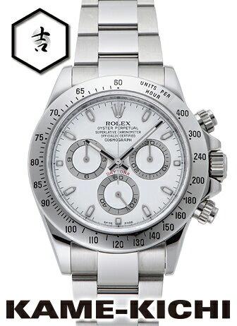 【中古】ロレックス 3年保証 デイトナ Ref.116520 ホワイト (ROLEX Daytona)【楽ギフ_包装】