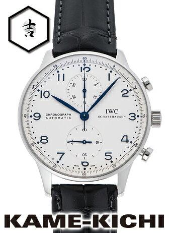 【中古】IWC ポルトギーゼ クロノグラフ Ref.IW371417 ホワイト (IWC Portuguese Chronograph)【楽ギフ_包装】