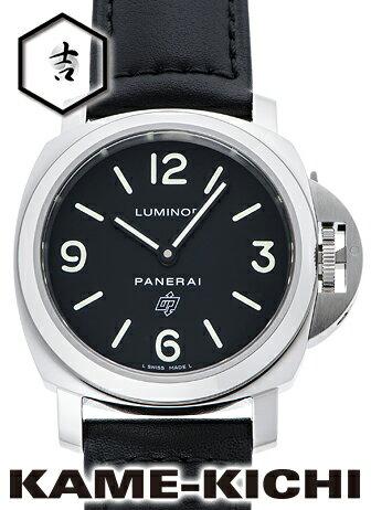 パネライ ルミノール ベース ロゴ アッチャイオ Ref.PAM01000 新品 ブラック (PANERAI Luminor Base Logo Acciaio)【楽ギフ_包装】