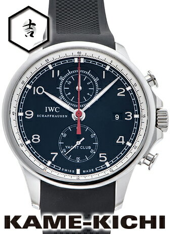 【中古】IWC ポルトギーゼ ヨットクラブ クロノグラフ Ref.IW390210 ブラック (IWC Portuguese Yacht Club Chronograph)【楽ギフ_包装】